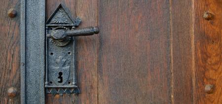 Black Metal Door Lever