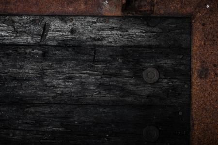 Black Rotting Wooden Frame