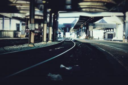 Black Steel Train Railways