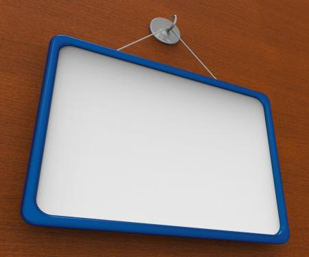 Blank Noticeboard Copyspace Shows Display Space
