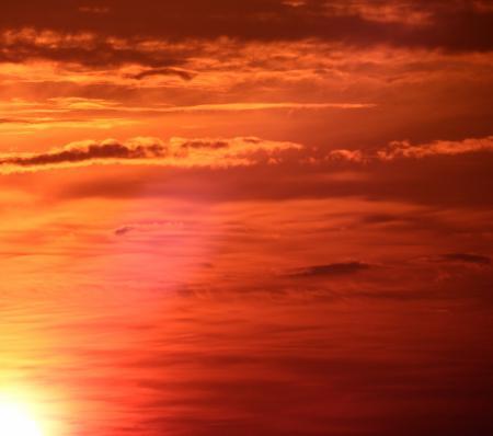 Blank Sunset Sky