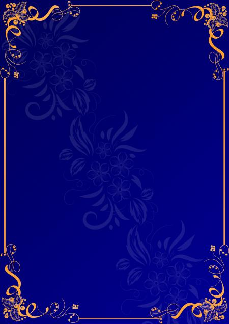 blue color frame