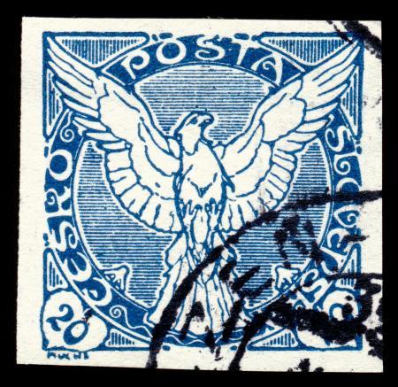 Blue Falcon Stamp