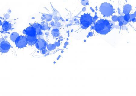 Blue Paint Splats