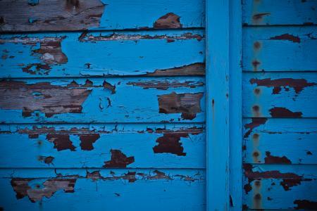 Blue Peeled Paint Texture