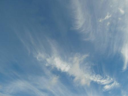 Blue Sky Wispy Clouds Background
