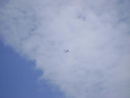 Blue sky with aeroplane