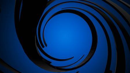Blue Spiral Background