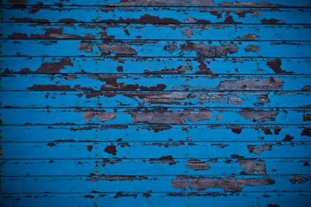 Blue Wall and Peeled Paint Texture