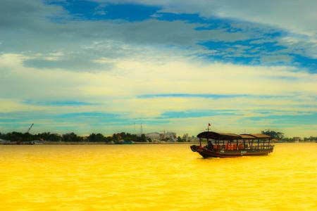 Boat on Yellow River