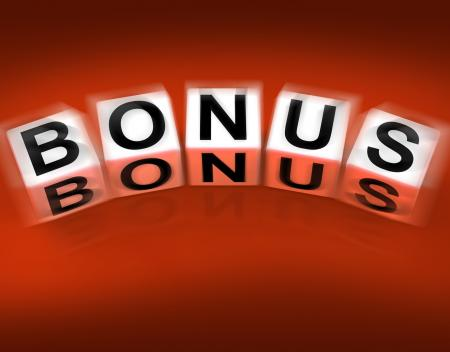 Bonus Blocks Displays Promotional Gratuity Benefits and Bonuses