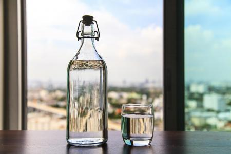 Bottle on table