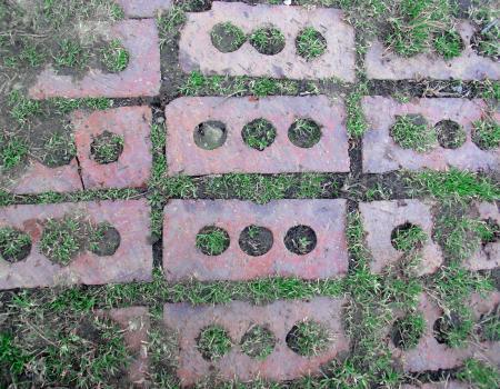 Bricks in the ground