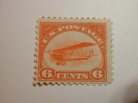 Brown Airmail Stamp