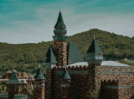 Brown and Green Castle