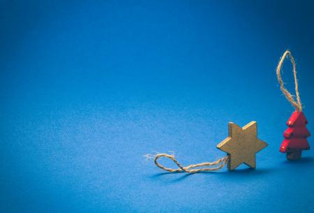 Brown Star and Red Tree Decoration