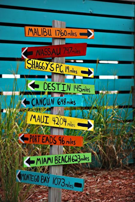 Brown Wooden Destination Arrow Guide