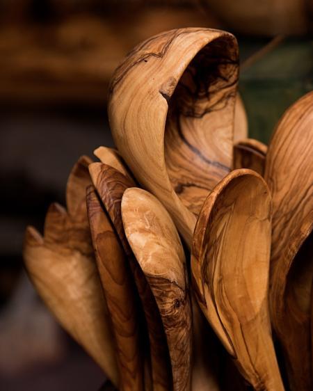 Brown Wooden Scoop Ladle Lot