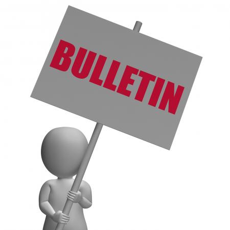 Bulletin Protest Banner Shows Official Notification Or Notice board