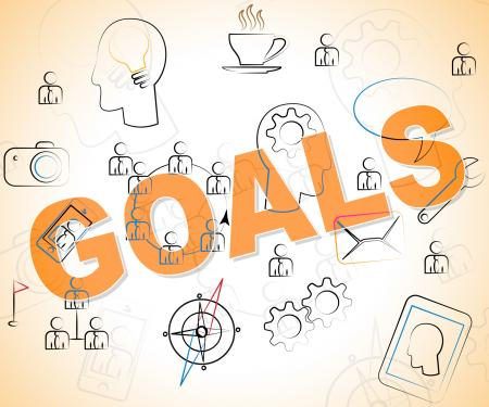 Business Goals Means Objective Achieve And Corporation
