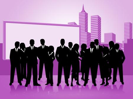 Business People Means Team Businesswoman And Corporate