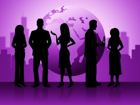 Business People Represents Globalization Corporate And Businessmen