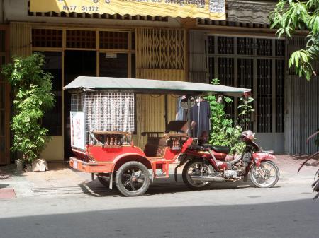 Cambodian tuk tuk taxi