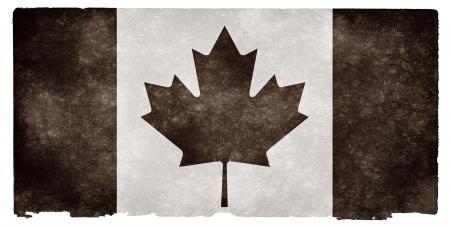 Canada Grunge Flag - Black and White