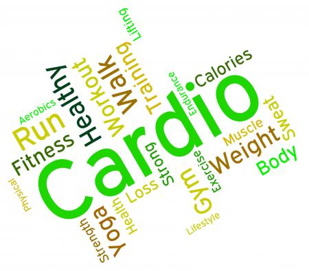 Cardio Word Indicates Get Fit And Exercise