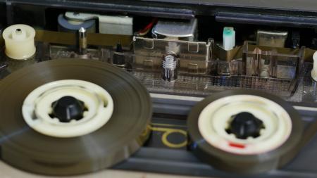 Cassette Tape Closeup