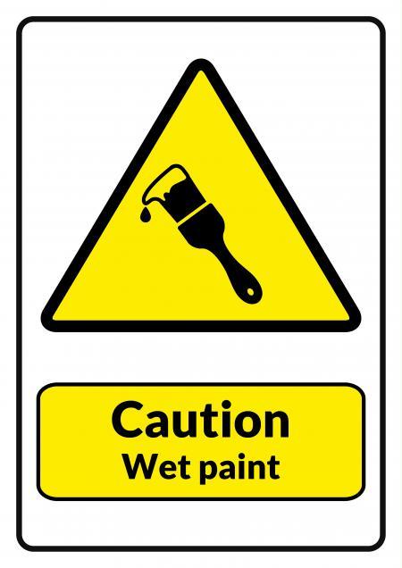 Caution Wet Paint Printable