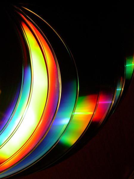 Cd Rainbow Reflection