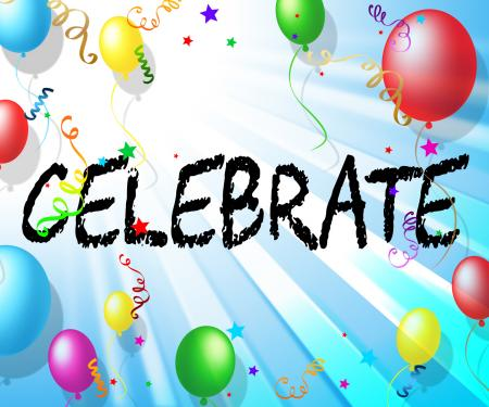 Celebrate Balloons Shows Celebrates Decoration And Cheerful