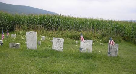 Cemetery in cornfield