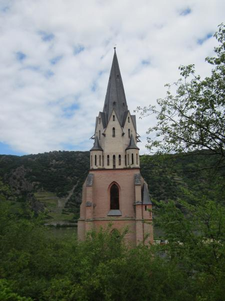 Church tower in Oberwesel, Germany