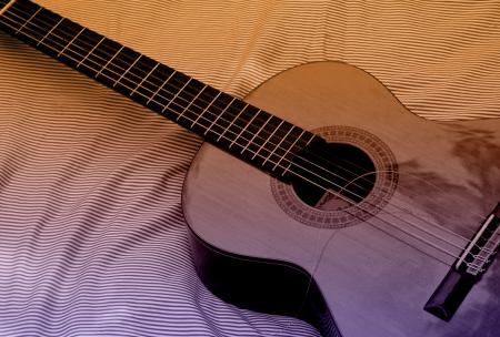 Classic Acoustic Guitar with Broken String