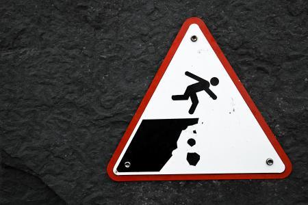 Cliff Drop Warning Sign