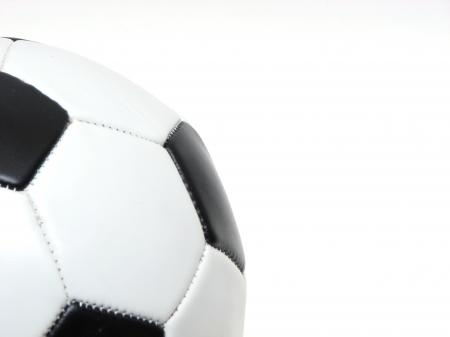 Close-up of a soccer ball isolated