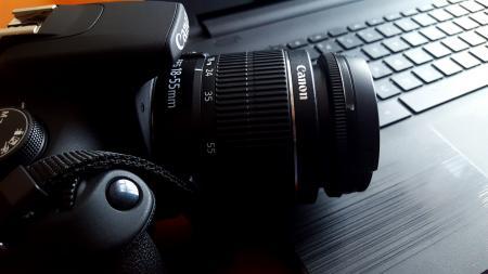 Close-up of Canon Camera