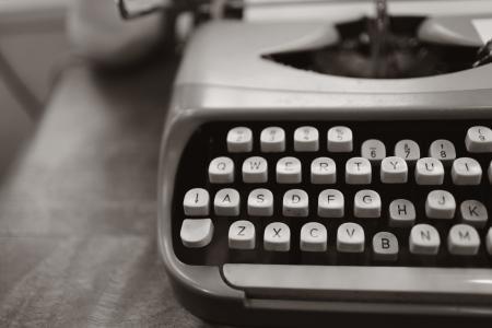 Close-up Photo of Gray Typewriter