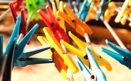 Clothes Pegs - Laundry Pins - Close-Up