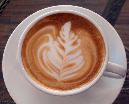 Coffee Art Leaf Design