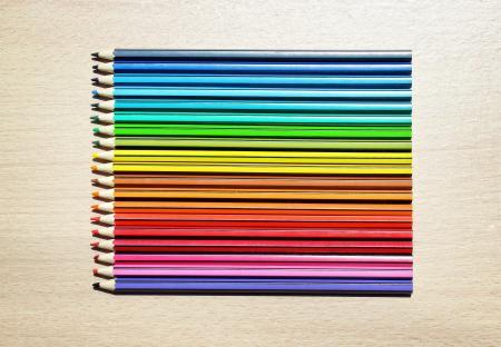 Colored Pencils Aligned