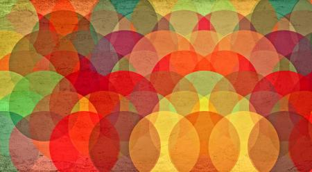 Colorful Circles on Grunge Background - Abstract Pattern