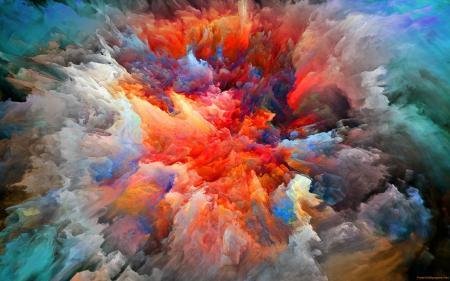 Colorful Paint Explosion