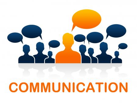 Communication Team Represents Group Communicate And Conversation