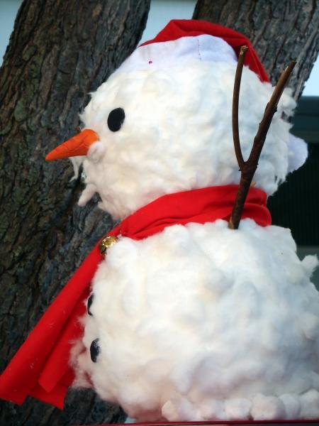Cotton Wool Craft Snowman