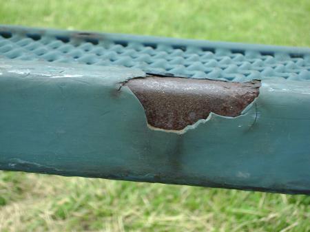 Cracked plastic handle
