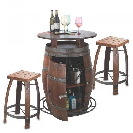 Outdoor Wine Barrels