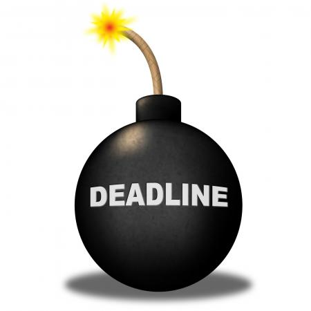 Deadline Limit Indicates Finishing Time And Caution